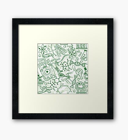 Germ Science Framed Print