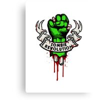Zombie Revolution! Canvas Print