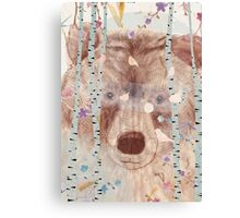 The bear in the forest Canvas Print