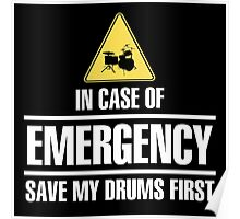 Save my drums (white) Poster