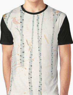 The birds in the birch tree forest Graphic T-Shirt