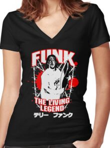 Terry Funk T - Shirt v3 Women's Fitted V-Neck T-Shirt