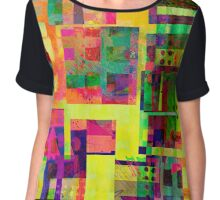 Extreme Color abstract art Chiffon Top