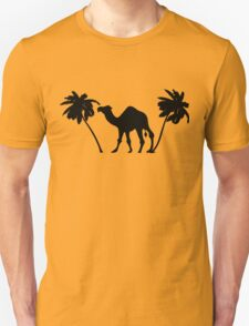 Palm Trees, Camel Silhouette Unisex T-Shirt
