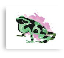 Green Poison Dart Frog Canvas Print