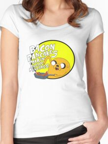 adventure time bacon pancakes Women's Fitted Scoop T-Shirt