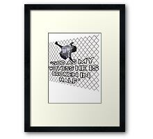 WWF Mankind Hell in a Cell t shirt, King of the Ring Framed Print