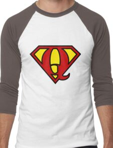 Super QGIS Men's Baseball ¾ T-Shirt