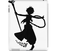 Aladdin Silhouette w/name iPad Case/Skin