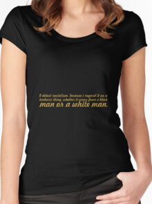 "A detest racialism... ""Nelson Mandela"" Inspirational Quote Women's Fitted Scoop T-Shirt"