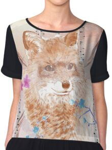 The fox in the forest Chiffon Top