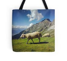 Sheep in the Alps, Nordkette Mountain, Innsbruck Austria Tote Bag