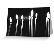 Candle Light Abstract In Church Greeting Card