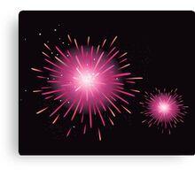 Fireworks display. New Year celebration. Stylized fireworks Canvas Print