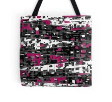 Magenta, gray and white abstraction Tote Bag