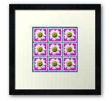 Daisies and Blocks Framed Print