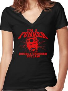 """ECW Terry Funk """"I'm a Funker T shirt"""" Red Women's Fitted V-Neck T-Shirt"""
