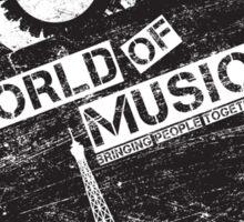 World Of Music Sticker