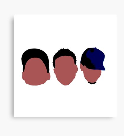 Chance The Rapper Mixtape Faces Canvas Print