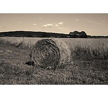 Hay Bale I Toned Photographic Print