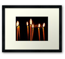 Candle Light Abstract In Church Framed Print
