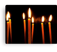 Candle Light Abstract In Church Canvas Print