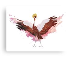 Crested Crane Canvas Print