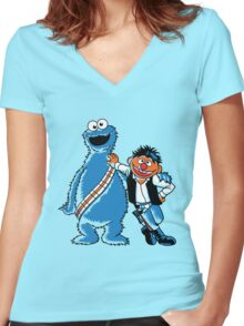 Scruffy Looking Smuggers Women's Fitted V-Neck T-Shirt