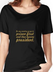 """In my country... """"Nelson Mandela"""" Inspirational Quote Women's Relaxed Fit T-Shirt"""
