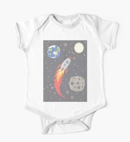 Space Knit One Piece - Short Sleeve