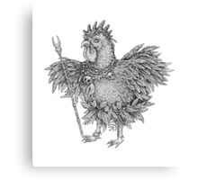 Tribal Shaman Rooster Canvas Print