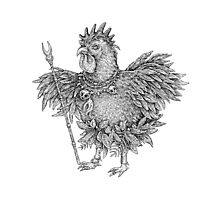 Tribal Shaman Rooster Photographic Print