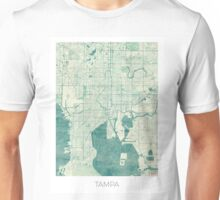 Tampa Map Blue Vintage Unisex T-Shirt