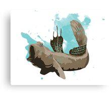 Blue Spotted Mudskipper Canvas Print