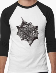 Black & White graphic abstract pattern Men's Baseball ¾ T-Shirt