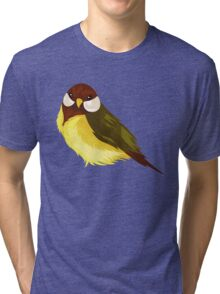 Small Cute Exotic Bird Species Tri-blend T-Shirt