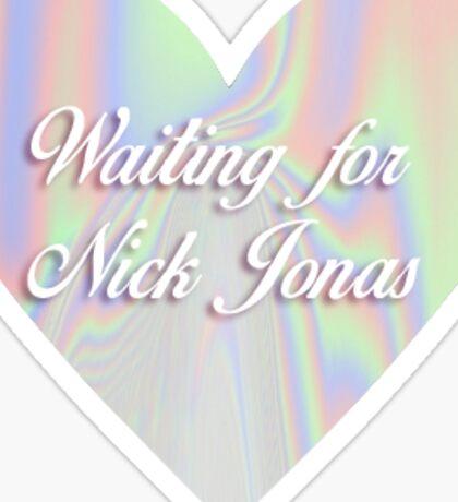 Waiting for Nick Jonas  Sticker