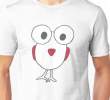 Big Eyed Cartoon Bird Drawing Unisex T-Shirt