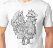 Wild West Rooster  Unisex T-Shirt