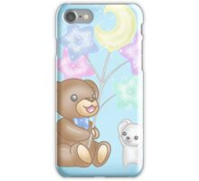 Cute Bear and Mouse with Pastel Balloons iPhone Case/Skin