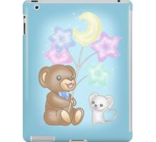 Cute Bear and Mouse with Pastel Balloons iPad Case/Skin