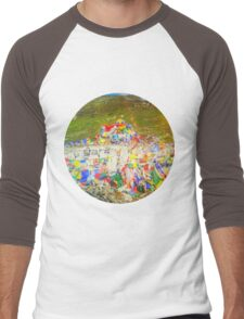 Tibet Flags Mountaintop Rohtang Himalaya Men's Baseball ¾ T-Shirt