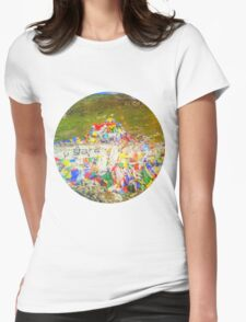 Tibet Flags Mountaintop Womens Fitted T-Shirt