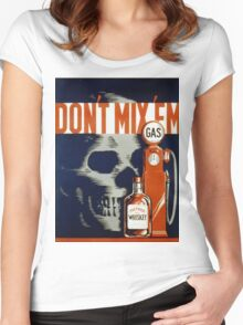 Vintage poster - Don't Drink and Drive Women's Fitted Scoop T-Shirt