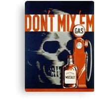 Vintage poster - Don't Drink and Drive Canvas Print