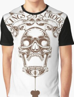 Kings&Crooks Brown Skull Graphic T-Shirt