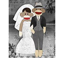 Sock Monkey Wedding Photographic Print
