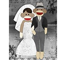 Sock Monkey Wedding Photographic Print
