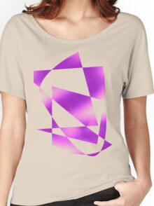 Purple abstract Women's Relaxed Fit T-Shirt