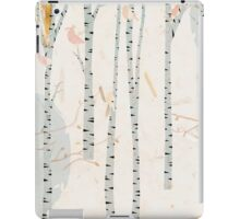 The birds in the birch tree forest iPad Case/Skin